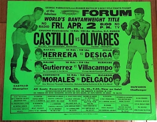 castillo vs olivares poster april 2 1971